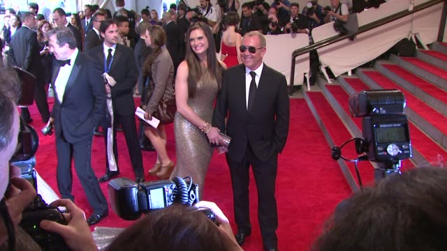 brooke shields and michael kors at the 'american woman fashioning a national identity' met gala arrivals at new york ny - brooke shields stock videos and b-roll footage