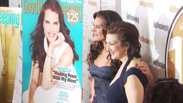 brooke shields and rosemary ellis at the good housekeeping's 'shine on' 125 years of women making their mark at new york ny - brooke shields stock videos and b-roll footage