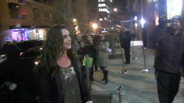 brooke shields arrives at the kenneth cole show at mercedesbenz fashion week fall 2013 02/07/13 brooke shields arrives at the kenneth cole show at on... - brooke shields stock videos and b-roll footage