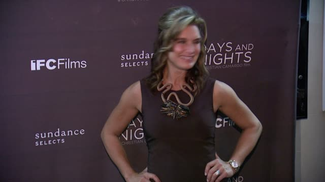 "brooke shields at ""days and nights"" new york premiere at ifc center on september 25, 2014 in new york city. - ブルック シールズ点の映像素材/bロール"