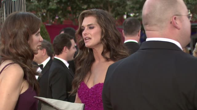 brooke shields at the 60th primetime emmy awards at los angeles ca - brooke shields stock videos and b-roll footage