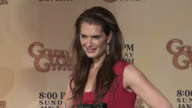 brooke shields at the 66th annual golden globe awards nominations at los angeles ca - brooke shields stock videos and b-roll footage