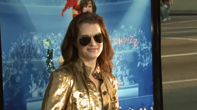 brooke shields at the 'blades of glory' premiere at grauman's chinese theatre in hollywood california on march 28 2007 - brooke shields stock videos and b-roll footage
