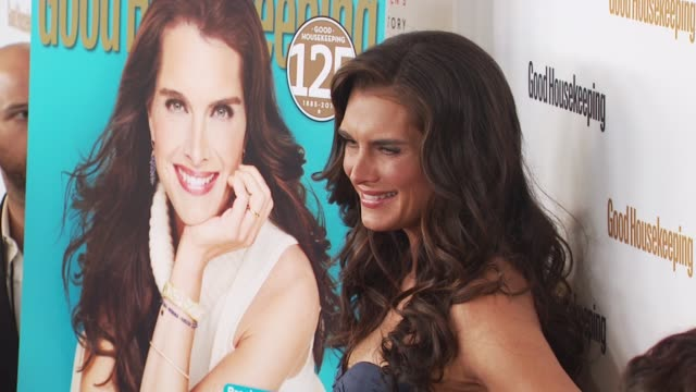 brooke shields at the good housekeeping's 'shine on' 125 years of women making their mark at new york ny - brooke shields stock videos and b-roll footage