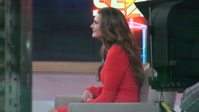 Brooke Shields at the 'Good Morning America' studio in New York NY on 10/11/12