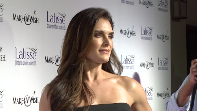 brooke shields at the launch party for latisse at los angeles ca - brooke shields stock videos and b-roll footage