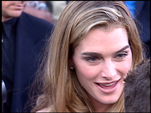 brooke shields at the 'mission impossible' premiere on may 20 1996 - 1996 stock videos & royalty-free footage