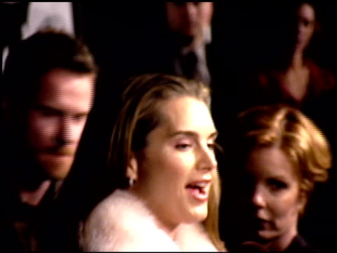 Brooke Shields at the Premiere of 'The Bachelor' at the Cinerama Dome at ArcLight Cinemas in Hollywood California on November 3 1999