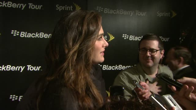 brooke shields at the us launch party for the blackberry tour smartphone from sprint at new york ny - brooke shields stock videos and b-roll footage