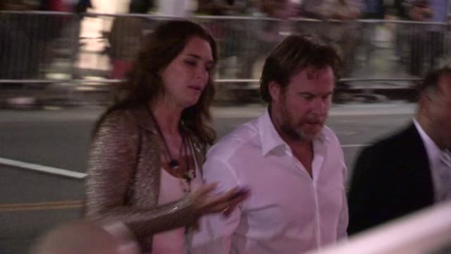 brooke shields chris henchy arrive at rock of ages after party in hollywood at celebrity sightings in los angeles brooke shields chris henchy arrive... - brooke shields stock videos and b-roll footage