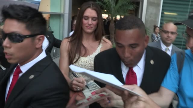 Brooke Shields greets fans while arriving at The Hot Flashes Premiere in Hollywood at Celebrity Sightings in Los Angeles Brooke Shields greets fans...