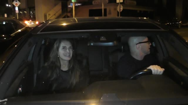 brooke shields outside craig's restaurant in west hollywood in celebrity sightings in los angeles, - ブルック シールズ点の映像素材/bロール