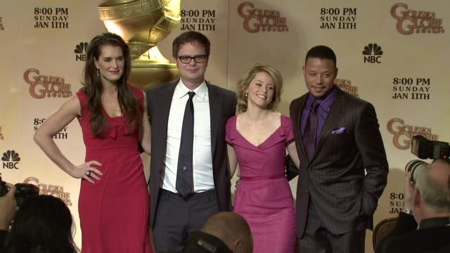 brooke shields rainn wilson elizabeth banks and terrence howard at the 66th annual golden globe awards nominations at los angeles ca - brooke shields stock videos and b-roll footage