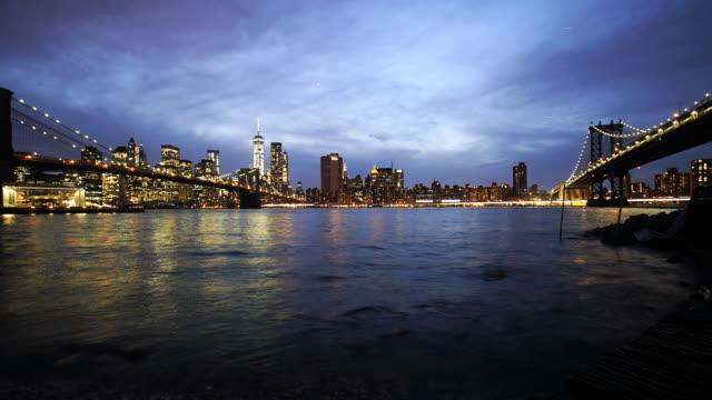 Brooklyn and Manhattan Bridge Pan Timelapse