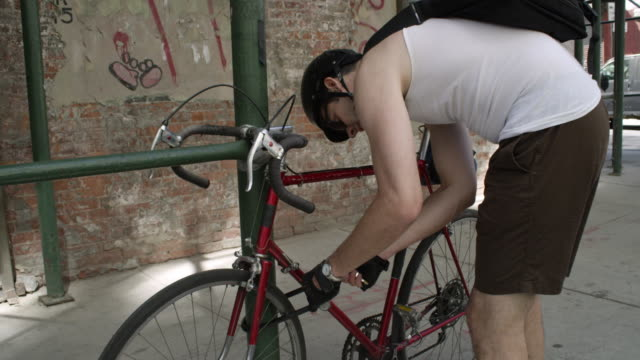 brooklyn bicycler - sports helmet stock videos and b-roll footage
