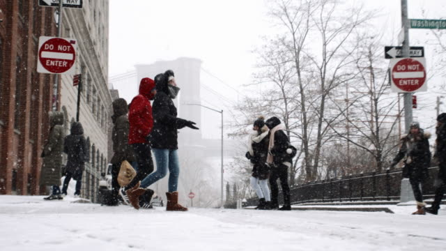 brooklyn blizzard - ice stock videos & royalty-free footage