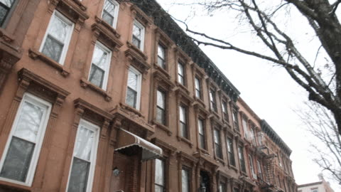 brooklyn blizzard - townhouse stock videos & royalty-free footage