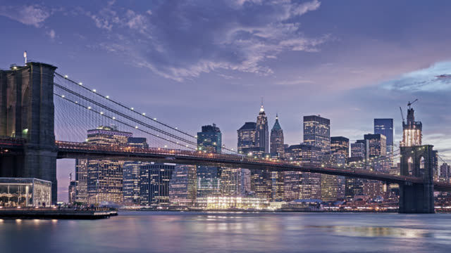 brooklyn bridge and manhattan, new york usa - brooklyn bridge stock videos & royalty-free footage