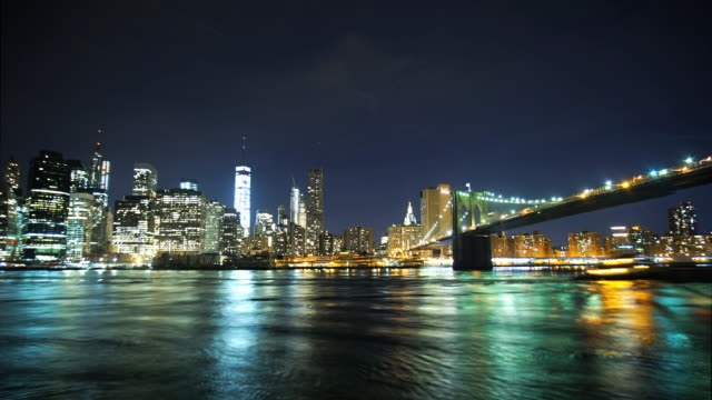 brooklyn bridge and manhattan - east river stock videos & royalty-free footage