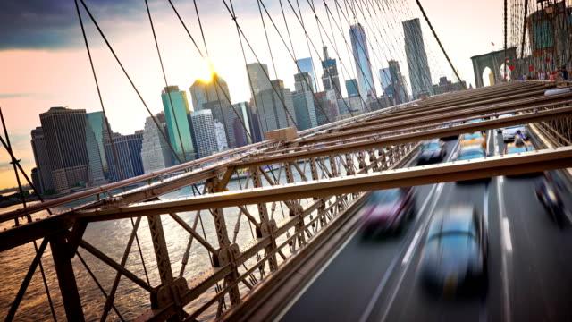 Puente de Brooklyn al atardecer