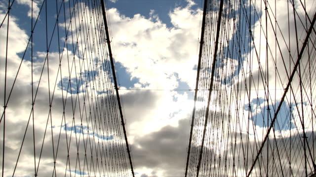Brooklyn Bridge Clouds Time Lapse and Sun