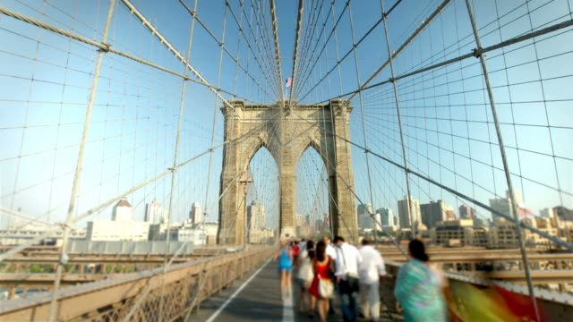 vidéos et rushes de pont de brooklyn, new york - pont de brooklyn