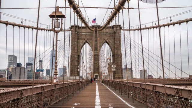 brooklyn bridge nyc - brooklyn bridge stock videos & royalty-free footage