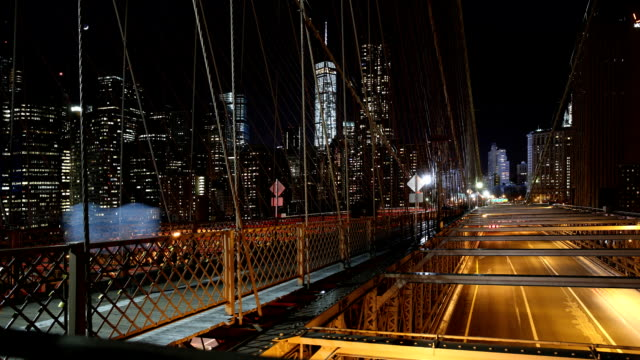 Brooklyn-Bridge-Zeitraffer in der Nacht