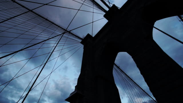 Brooklyn Bridge Stormy Silhouette