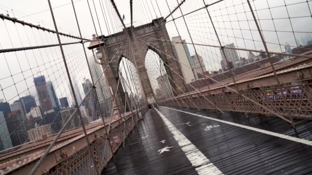brooklyn bridge - vanishing point stock videos and b-roll footage