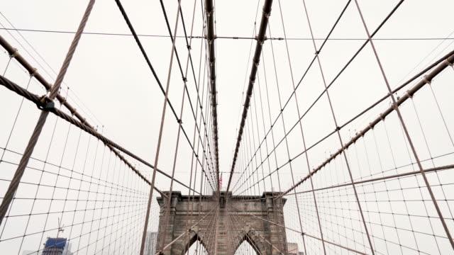vídeos y material grabado en eventos de stock de puente de brooklyn - columna arquitectónica