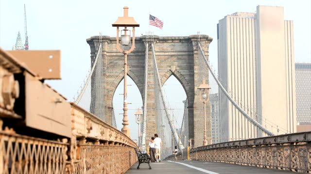 brooklyn bridge - brooklyn bridge stock videos & royalty-free footage