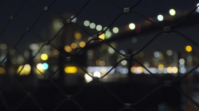 brooklyn bridge - focus on foreground stock videos & royalty-free footage