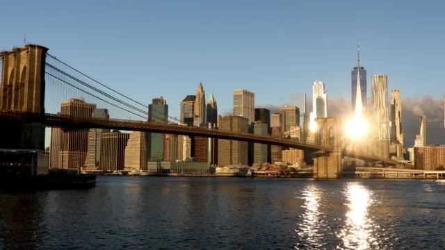 brooklyn bridge - waterfront stock videos and b-roll footage
