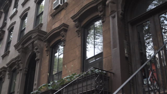 Brooklyn Brownstone entrance establishing shot - New York City circa June 2016