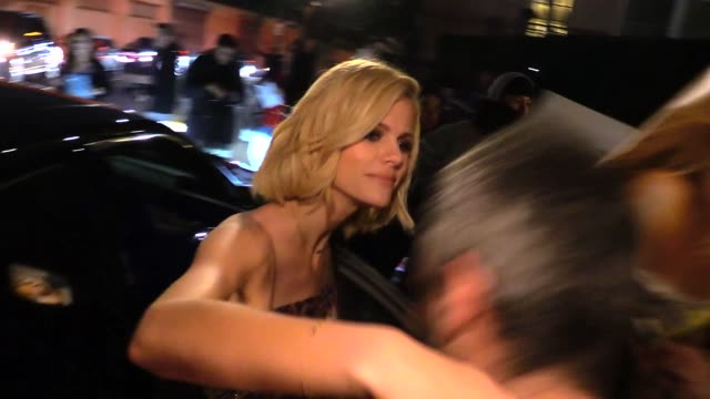 brooklyn decker departing the vanity fair fiat young hollywood in hollywood in celebrity sightings in los angeles - vanity fair stock videos and b-roll footage