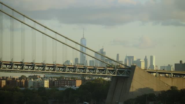 brooklyn end of nyc's verrazano bridge - brooklyn bridge stock videos & royalty-free footage