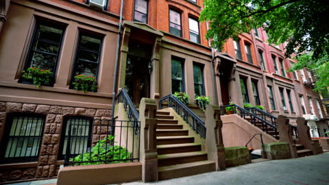 brooklyn heights. 110 hicks street. - townhouse stock videos & royalty-free footage