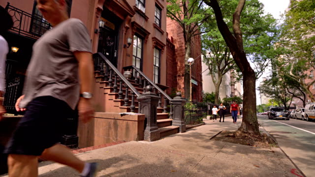 brooklyn heights. city life - brick house stock videos & royalty-free footage