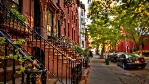 brooklyn house - townhouse stock videos & royalty-free footage