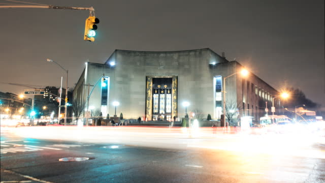 Brooklyn Public Library night time-lapse