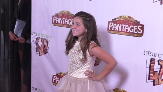 Brooklyn Robinson at the Opening Night Of 42nd Street at the Pantages Theatre in Hollywood in Celebrity Sightings in Los Angeles