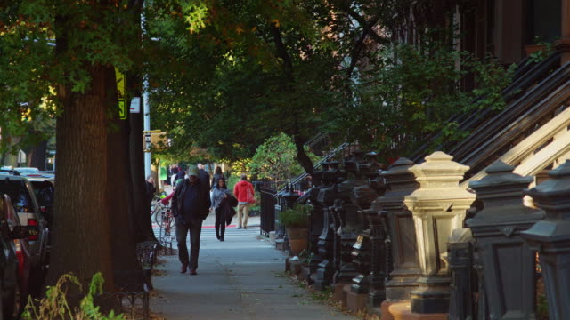 vidéos et rushes de brooklyn row houses - quartier résidentiel