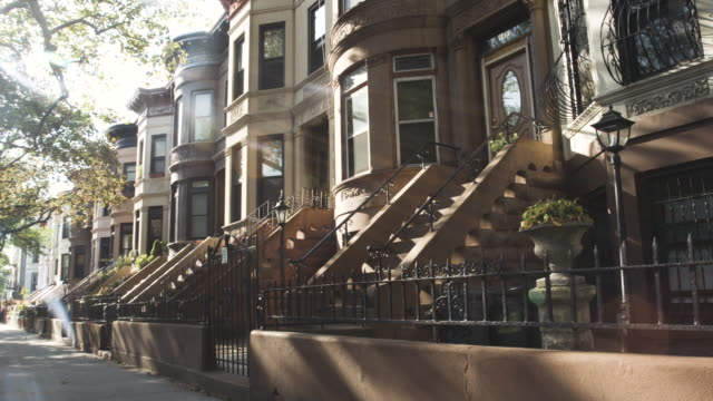 Brooklyn Street - establishing shot - New York City - summer 2016 - 4k