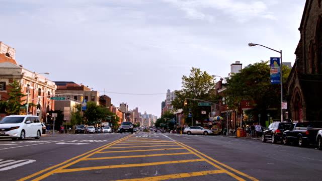 brooklyn street in new york - greenpoint brooklyn stock videos & royalty-free footage