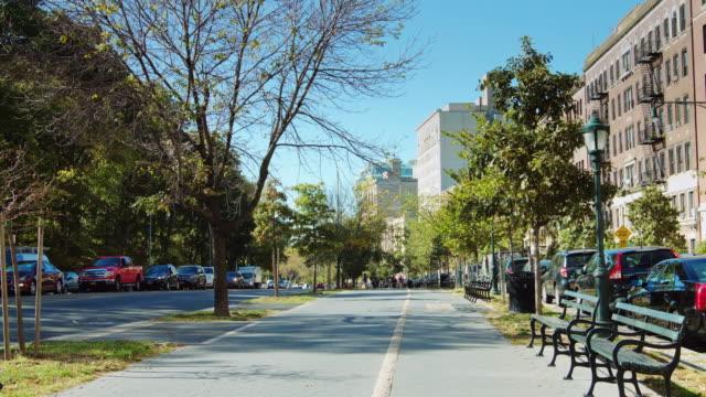 brooklyn street scene - brooklyn new york stock videos & royalty-free footage