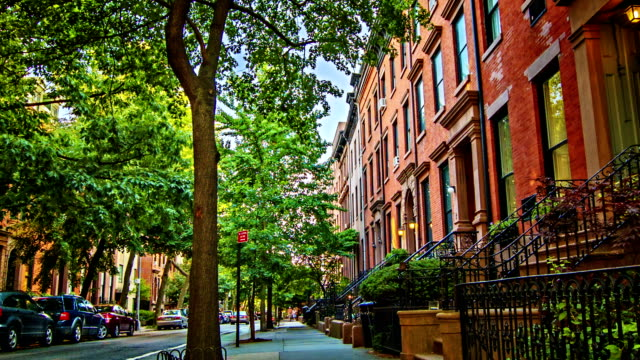 brooklyn street - townhouse stock videos & royalty-free footage