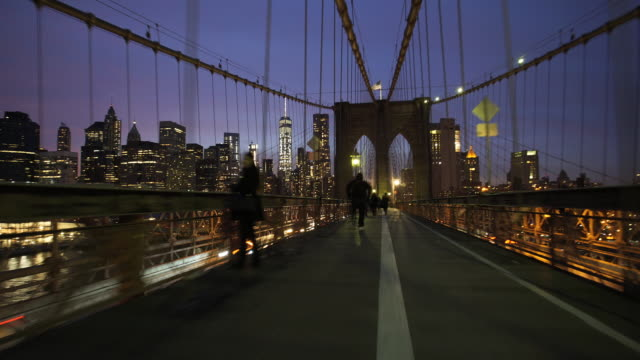 brooklyn time lapse - ブルックリン橋点の映像素材/bロール