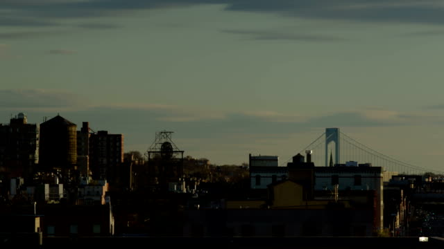 brooklyn view timelapse day to night - ridge stock videos & royalty-free footage