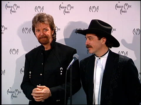 Brooks and Dunn at the American Music Awards at the Shrine Auditorium in Los Angeles California on January 27 1997